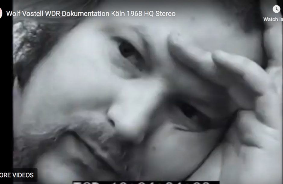 Wolf Vostell WDR Dokumentation Köln 1968